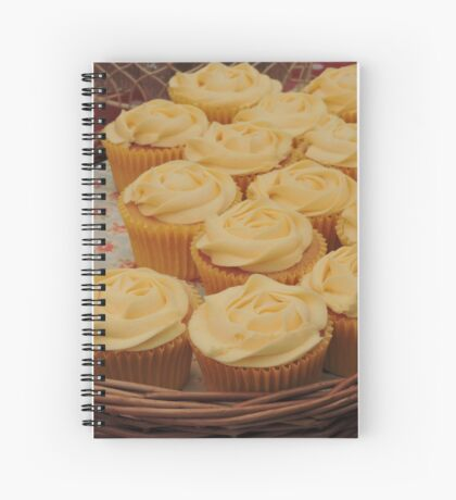 Lemon Cupcake Basket Spiral Notebook