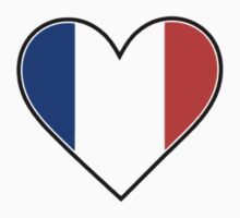 I Love France T-Shirt by Robotor
