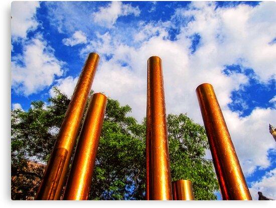 Pillars of Peavey Plaza by shutterbug2010