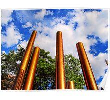 Pillars of Peavey Plaza Poster