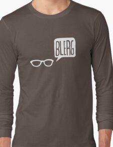 White Blerg Long Sleeve T-Shirt
