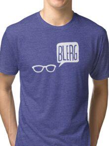 White Blerg Tri-blend T-Shirt