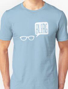 White Blerg Unisex T-Shirt