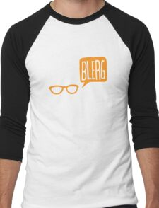 BLERG ORANGE! Men's Baseball ¾ T-Shirt