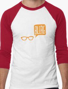 BLERG ORANGE! Men's Baseball ¾ T-Shirt
