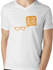 BLERG ORANGE! Mens V-Neck T-Shirt