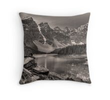 Moraine Lake (BW) Throw Pillow