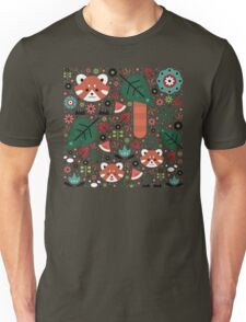 Red Panda & Cubs Unisex T-Shirt