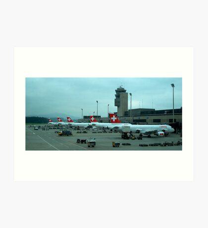 Zurich airport Art Print