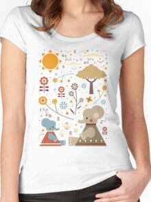 Elephant Tea Party Women's Fitted Scoop T-Shirt