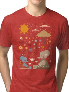 Elephant Tea Party Tri-blend T-Shirt