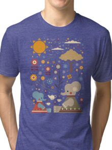 Elephant Tea Party Tri-blend T-Shirt