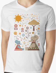 Elephant Tea Party Mens V-Neck T-Shirt