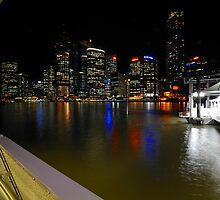 Brisbane River & City By Night. Queensland, Australia. (6) by Ralph de Zilva