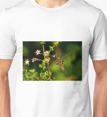 Four Spotted Skimmer Dragonfly Unisex T-Shirt