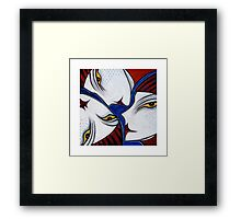 Face Puzzle Framed Print