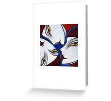 Face Puzzle Greeting Card