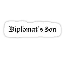Diplomat's Son Sticker