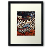 year of the dragon (twin dragons) Framed Print