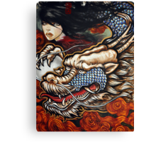 year of the dragon (twin dragons) Canvas Print