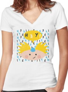 Hey! Arnold Women's Fitted V-Neck T-Shirt