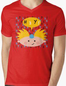 Hey! Arnold Mens V-Neck T-Shirt