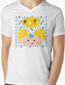 Hey! Arnold Mens V-Neck T-Shirt