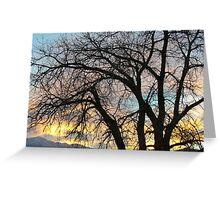 """Blue Sundown Over Pike's Peak"" Greeting Card"