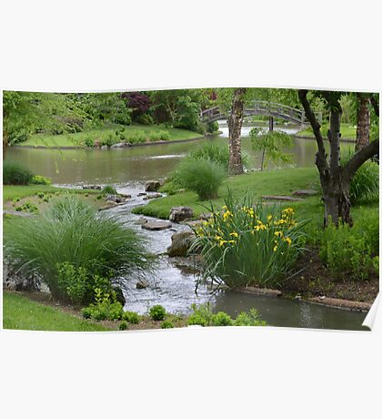 Chinese Garden Stream Poster