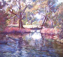 'Sunday Creek at Ashes Bridge' by Lynda Robinson