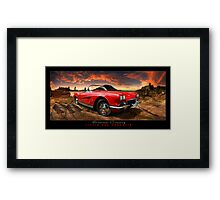 Summer Cruising ~ Little Red Corvette Framed Print