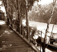 Historic Wharf on the Murray by Julie Sleeman