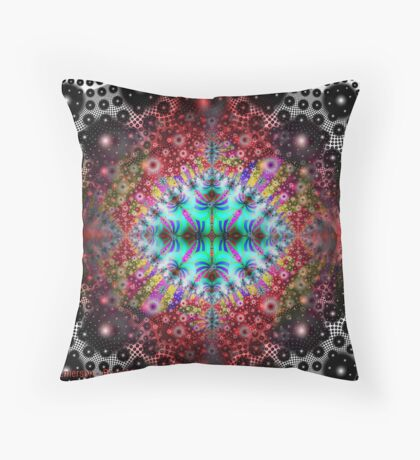 Seeing Color in a Black and White World Throw Pillow