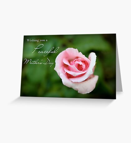 Wishing You a Peaceful Mother's Day Greeting Card