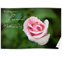 Wishing You a Peaceful Mother's Day Poster