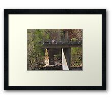 """Two Fellas In Fella-ship On The Bridge"" Framed Print"