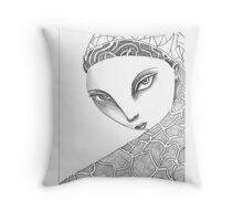 Shrouded Woman Throw Pillow