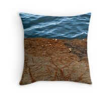 Earth Meets Water Throw Pillow