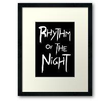 Rhythm Of The Night Framed Print