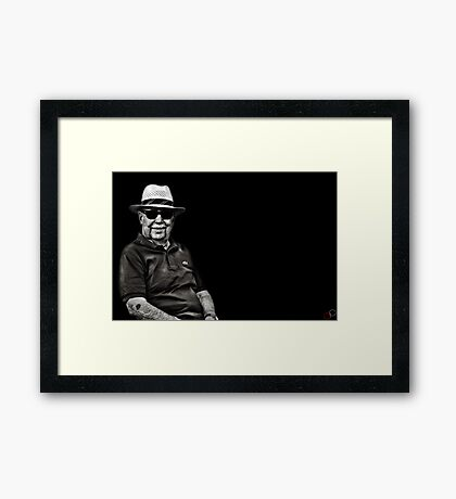 Faces of Venice - The Lawn Bowls Player Framed Print