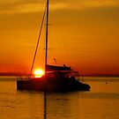 Sail Boat sunrise by Andrew (ark photograhy art)