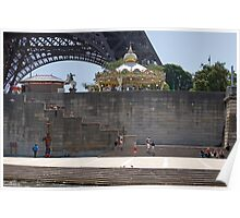 Eiffel from the River Seine Poster