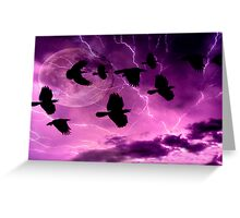 Thunder bolts and lightening Greeting Card