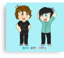 Chibi Dan and Phil Canvas Print