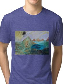 Faces in the rocks Tri-blend T-Shirt