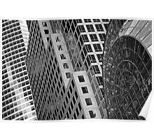 New York Buildings - Black & White Poster