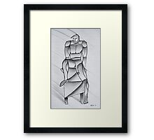 Male Croquis Framed Print