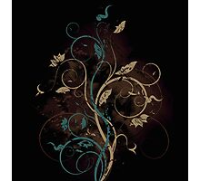 Floral fantasy background Photographic Print