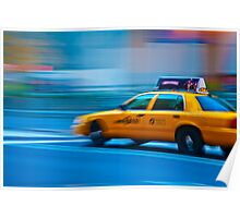 Big Yellow Taxi - New York Poster