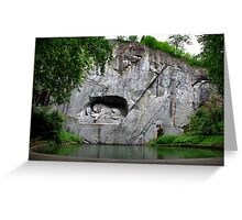 The Lion Monument Greeting Card